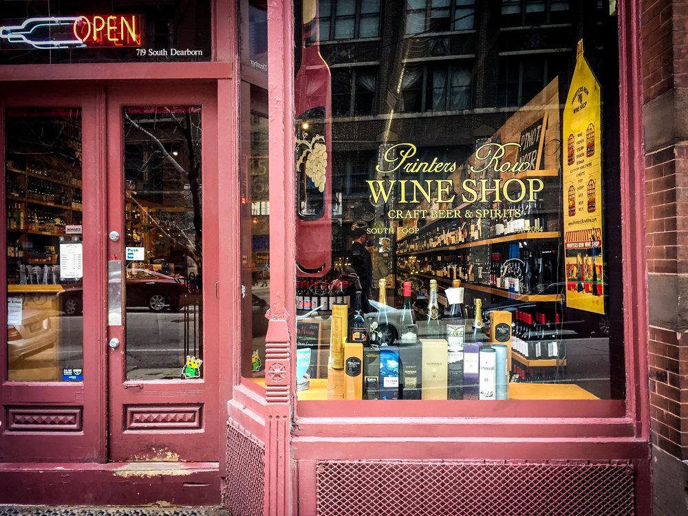 Printers Row Wine Shop