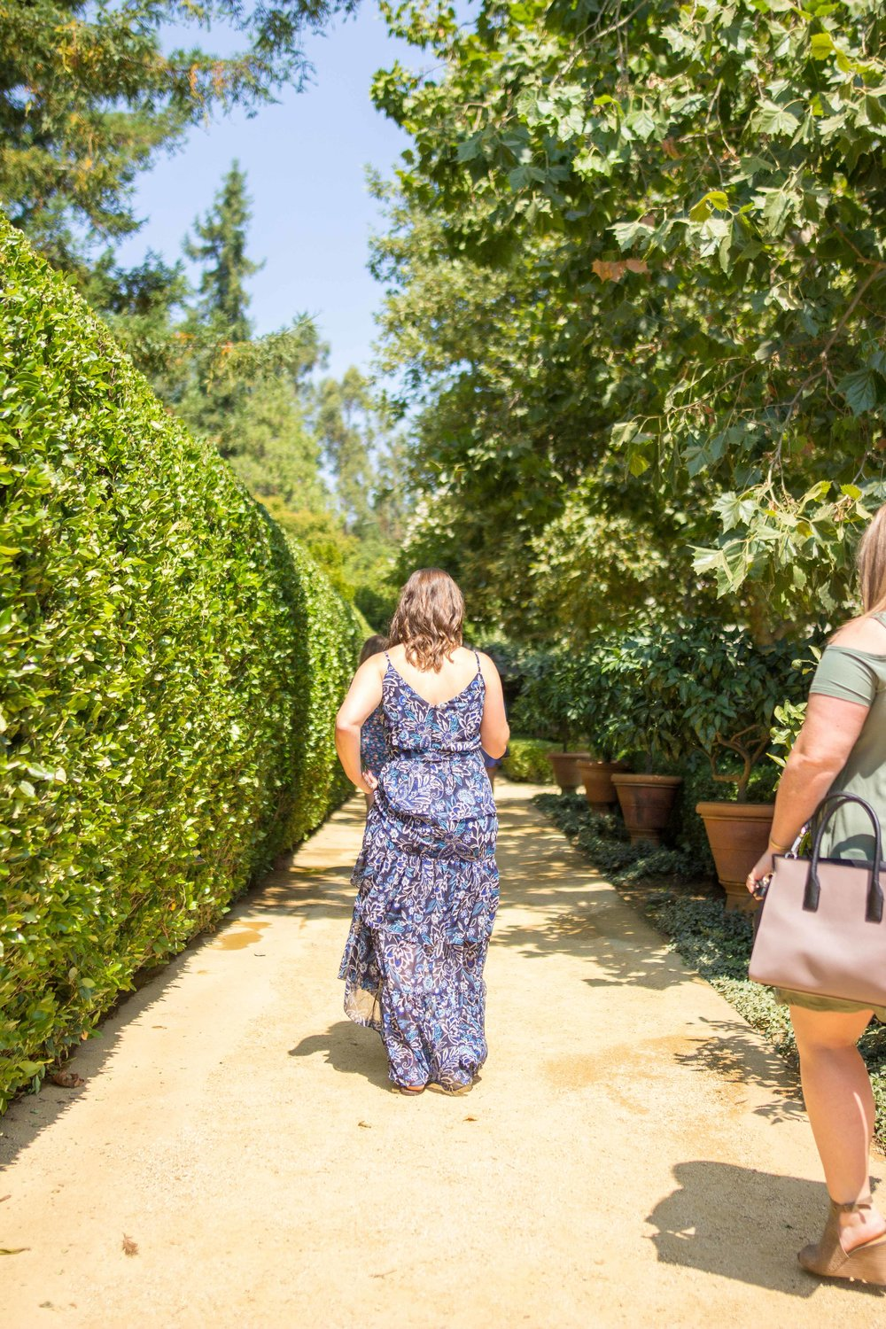 Walking Through the Courtyard