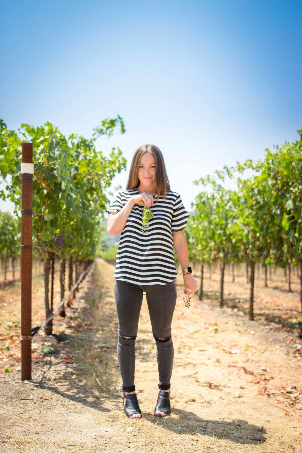 Kim Playing in the Vineyards