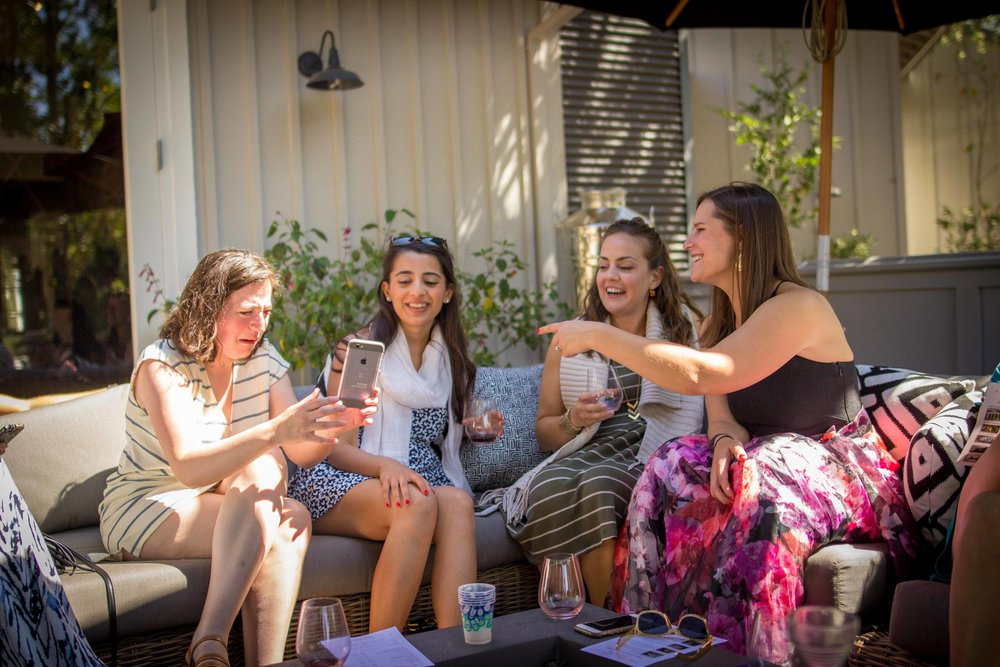 Having a great time on the patio
