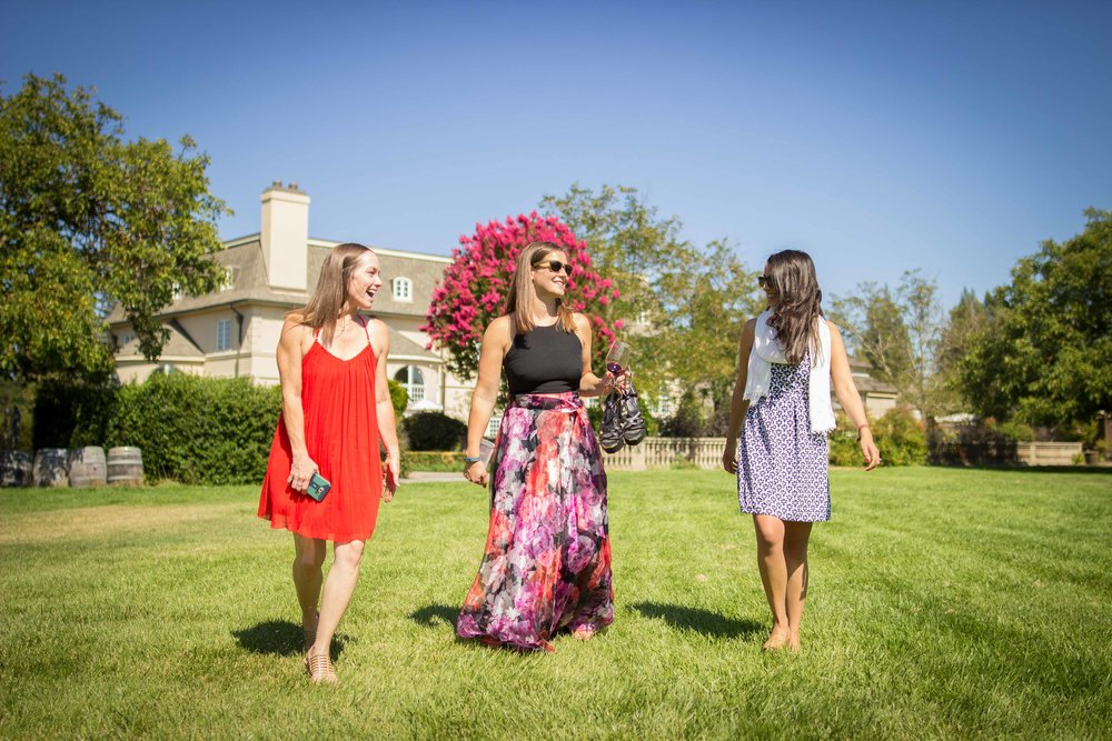 Taking a stroll with out wine to explore the grounds
