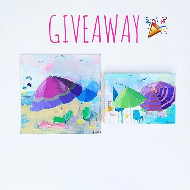 🎉G I V E A W A Y🎉  Want a summer painting?⛱ To enter is easy!  1.) Like this photo  2.) Follow @lovedbygiselle & @emilka_co  3.) Tag a friend!  Tag an extra friend(one per comment) for extra entries! Let's win some cute art🎨  Giveaway ends Thursday, July 28  By entering you confirm you are 18 years or older. Instagram is not in any way affiliated with this giveaway. #giveaway #purple #beachdays #beachday #miami