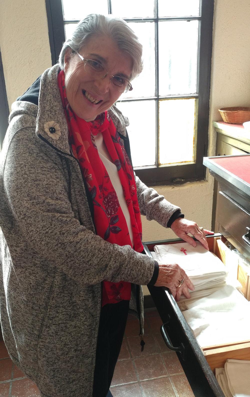 Altar Guild member Donna Marshall, February 2019