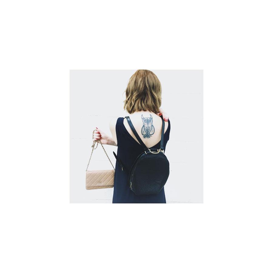 Ebony Epi leather backpack, Louis Vuitton.