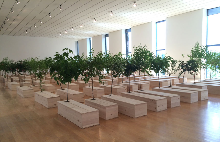 Installation view of  Yoko Ono's Ex It .  I was attracted to this room in particular.