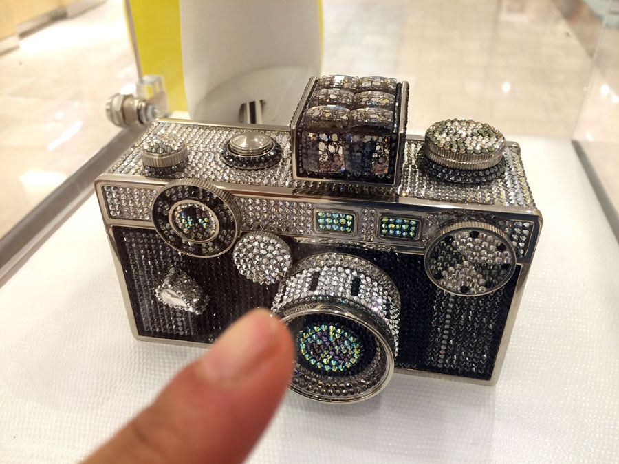 Snapshot.  Next-level camera I spotted at Neiman Marcus by  Judith Leiber.