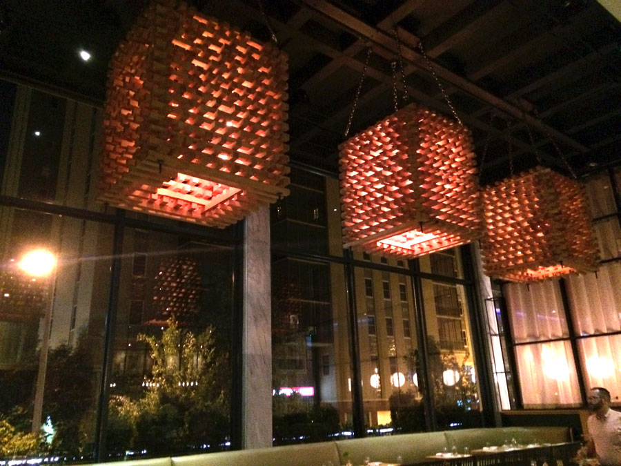 Yes, more lighting.  The wooden lighting fixtures that reminded me of a Sol Lewitt diagram.