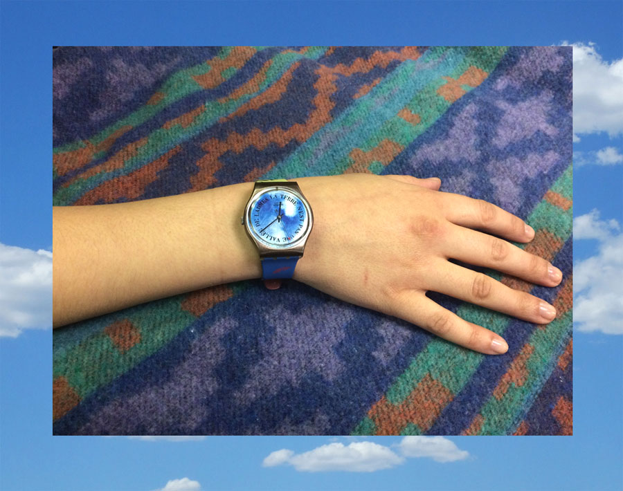 La terre n'est pas une vallée de larmes | Earth is not a valley of tears. Swatch watch, 1989 with Surrealist Salvador Dalí design.