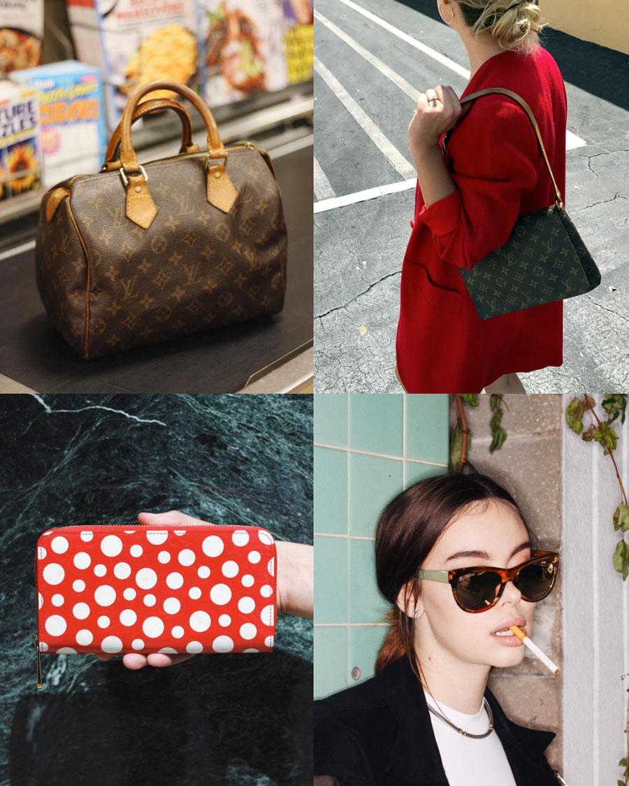❤️ It's Fall now, so let it fall into your cart. 1.  Louis Vuitton  Speedy 25 in the 10 or less line. 2.  Louis Vuitton  Musette Tango in the asphalt jungle. 3.  Louis Vuitton  X Yayoi Kusama Zippy wallet. 4. Cassidy  @cassidyroney  in  Gucci  Flora Cat Eye Sunglasses.