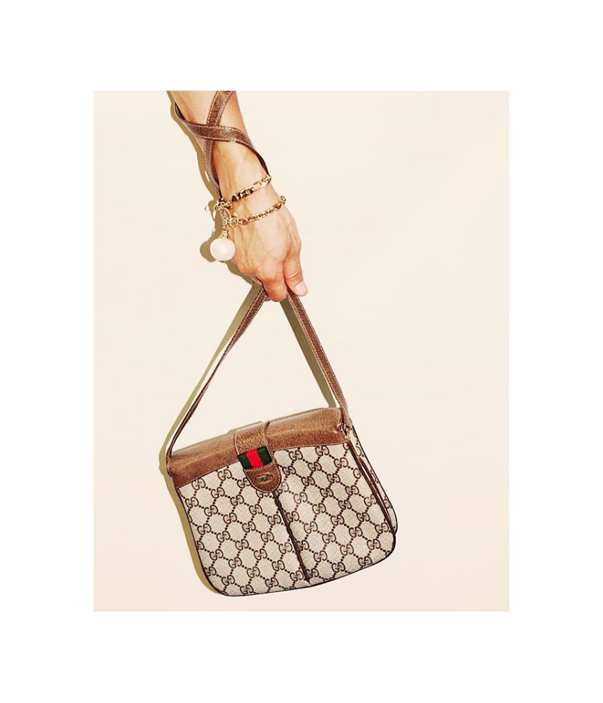 Monogram with web crossbody,  vintage Gucci .