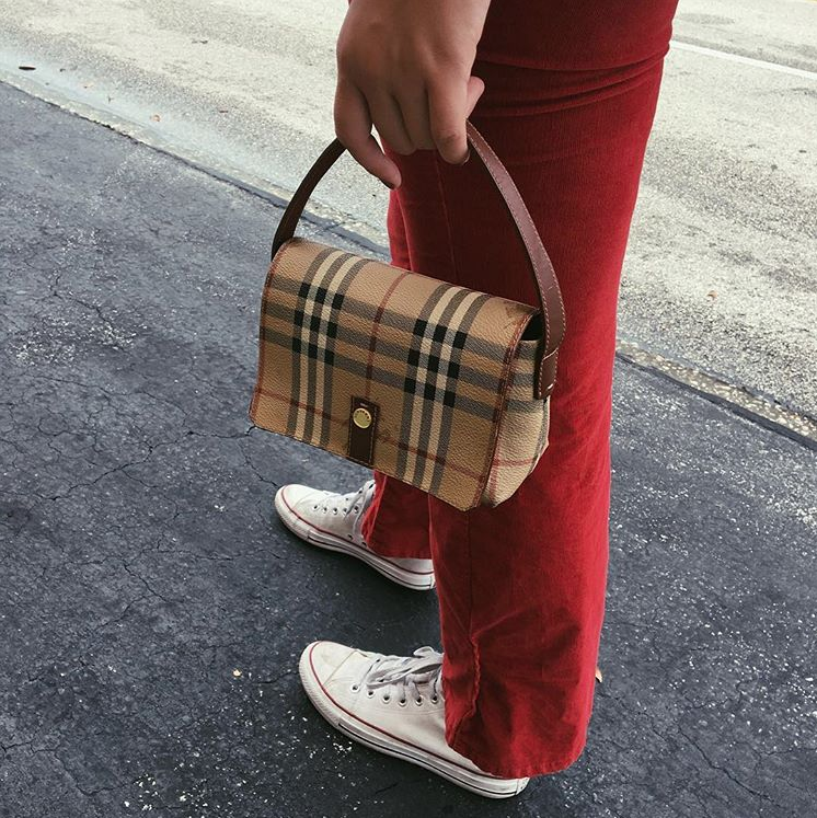 Nova Check micro-bag,  Burberry .