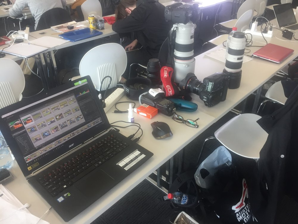 2016 - My office during the Phillip Island MotoGP