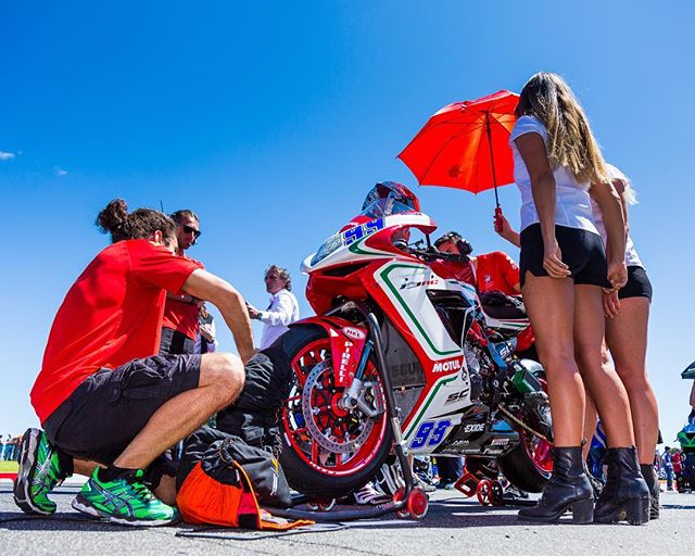 Some of the on-grid action from Phillip Island #phillipislandcircuit for Round 1 of the 2017 MOTUL FIM World Superbike 