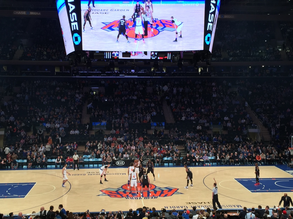 knicks v clips at MSG