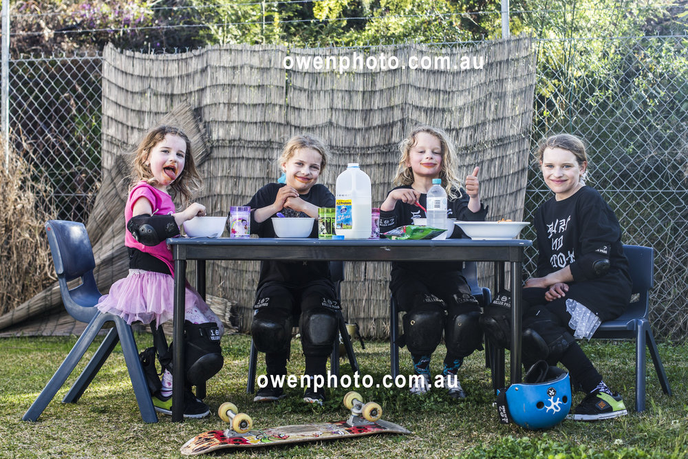 L to R: Naz Norris, Sockie Norris, Biggie Norris, Sabre Norris - Ellen Show, Portrait, norris kids