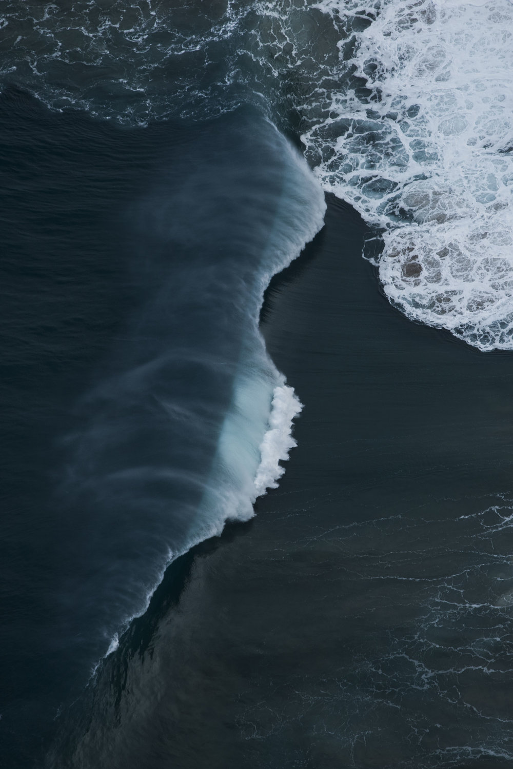 aerial drone wave art photography