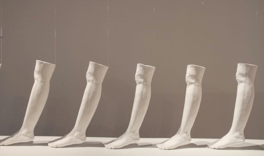 Mehwish Iqbal,  Forcefield of Complex Journeys,   2016,(detail) 600mmx 3000mm x200mm (10 parts)Installation in  Diaspora Making Machines , Blacktown Arts Centre, 2016,Image courtesy of the artist