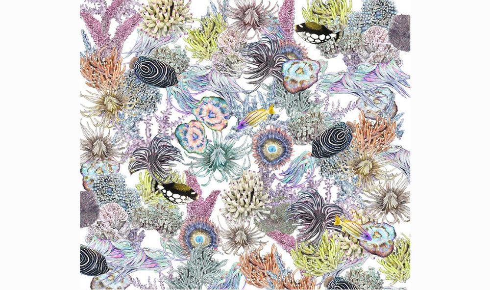 Victoria Garcia:  Anemone Yardage , 2016. Digital Textile print