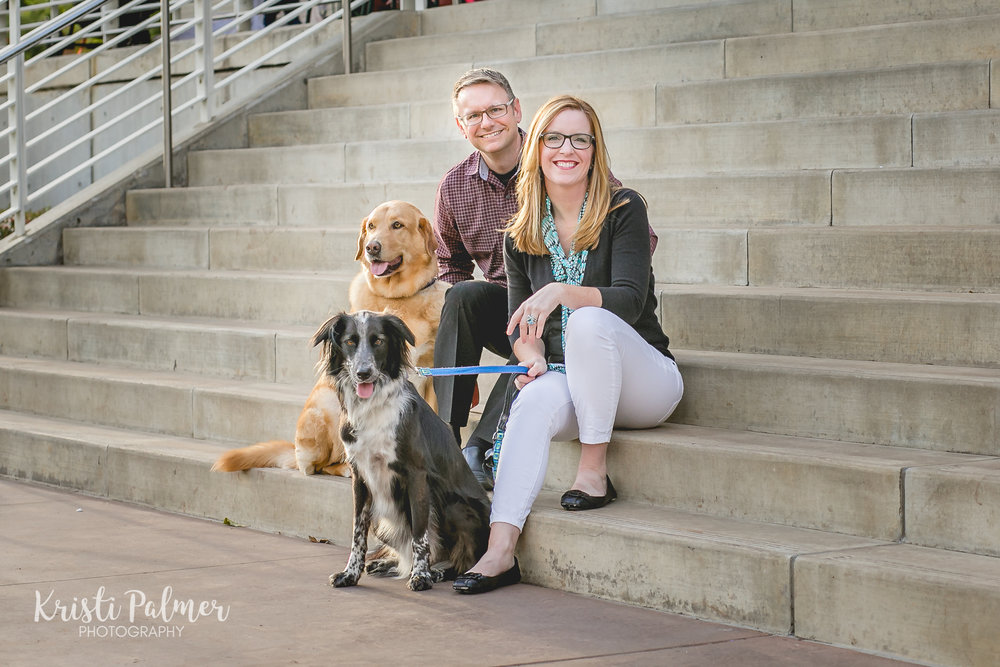 tulsa family session with dogs