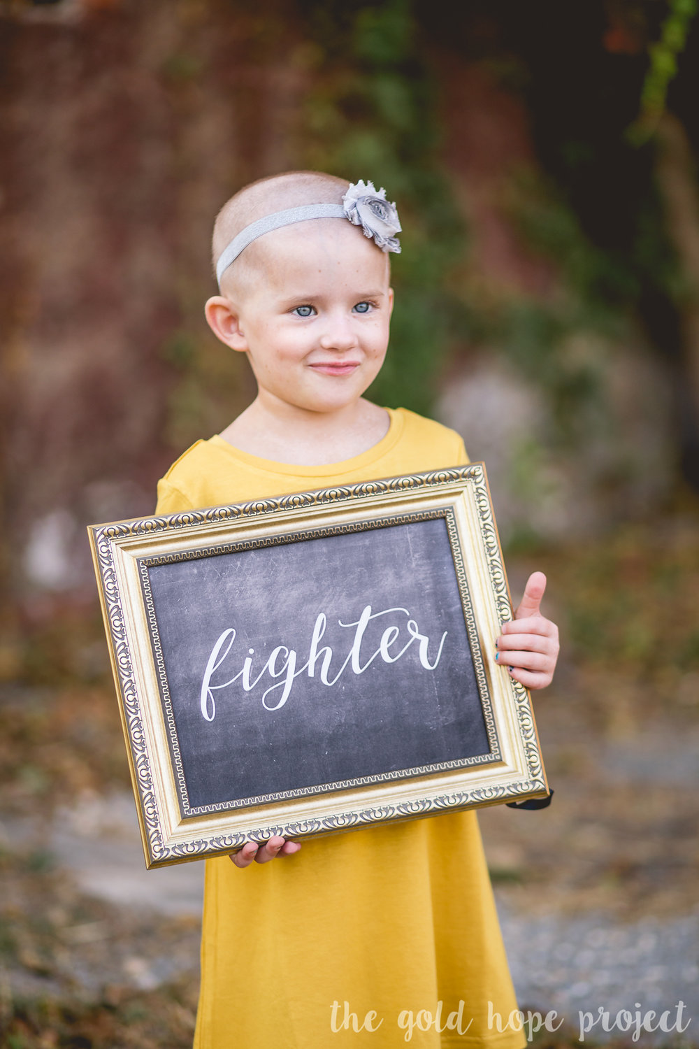 cancer fighter little girl portrait