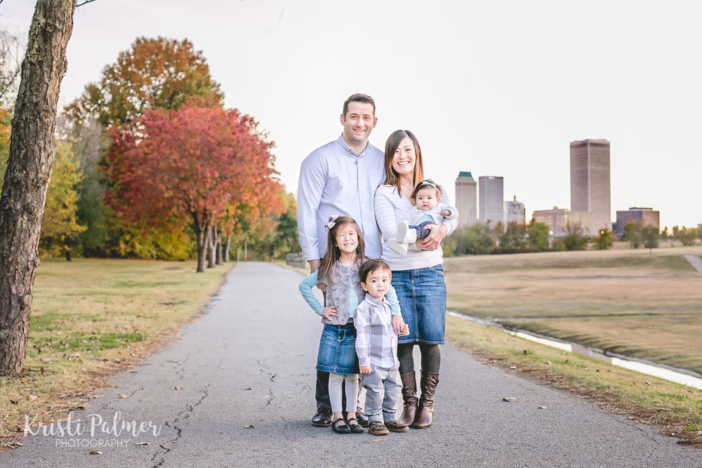 family portrait tulsa skyline