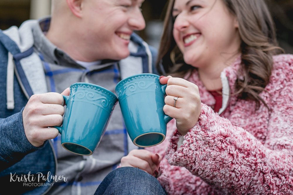 engagement photo coffee mugs