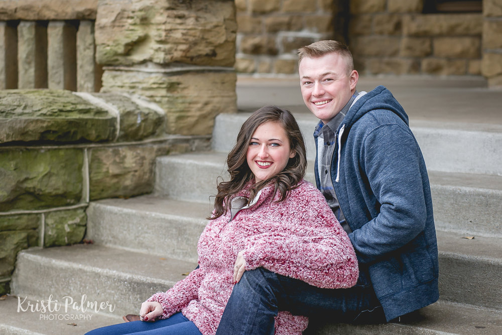 engagement photo at gilcrease in tulsa
