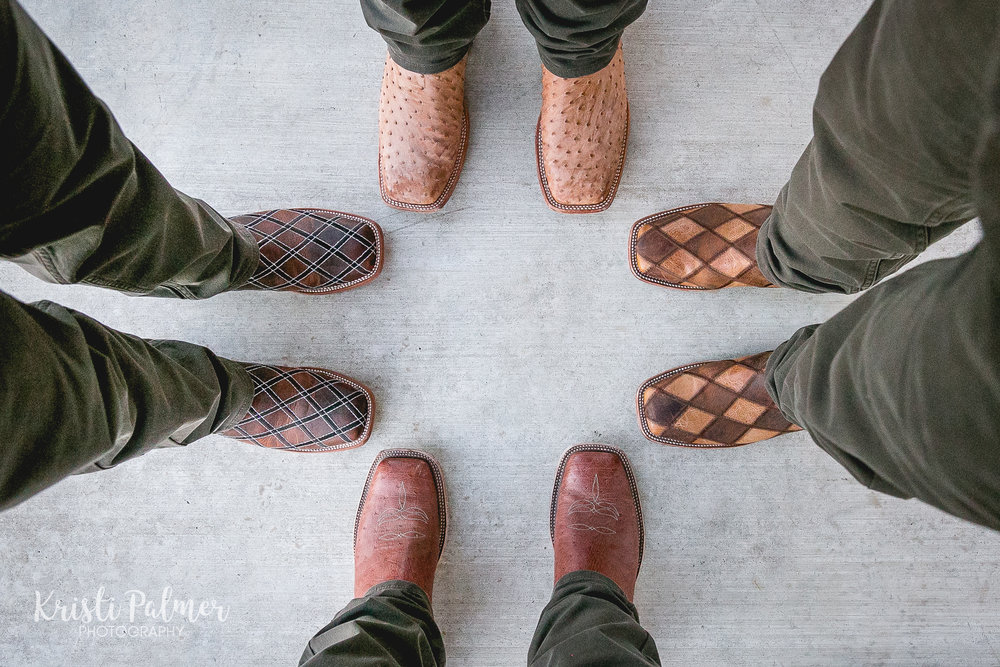 groom and groomsmen cowboy boots