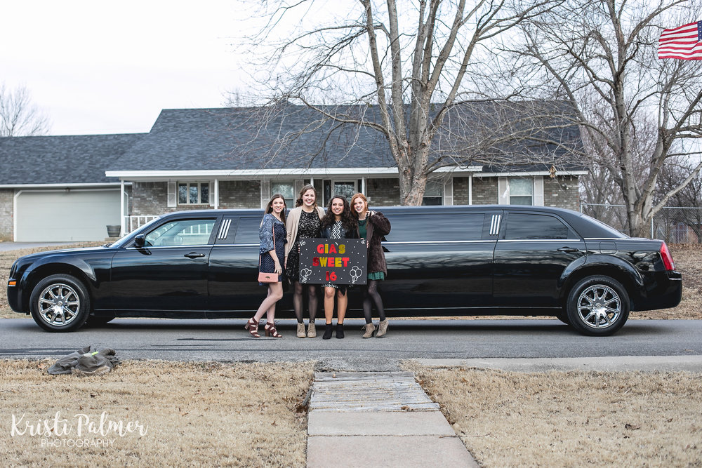 sweet 16 limo ride