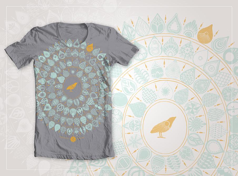 8 Limbs Yoga Studio T-shirt Design