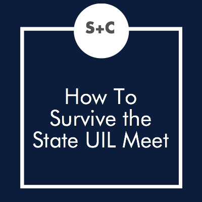 Are you going to state this year? If so, congrats! Also, fair warning:the State UIL meet is insanely stressful. Trust us, we've been there. We know newbies and veterans alike could use a little crash course on making it through the contest. Here's our best advice.