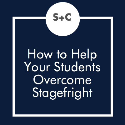 All kids are at least a little bit nervous to perform in front of others, even if they don't want to admit it. Our best actors were once newbies, and shy ones at that! We have come up with a few strategies to help students overcome their fears through directing and teaching techniques.