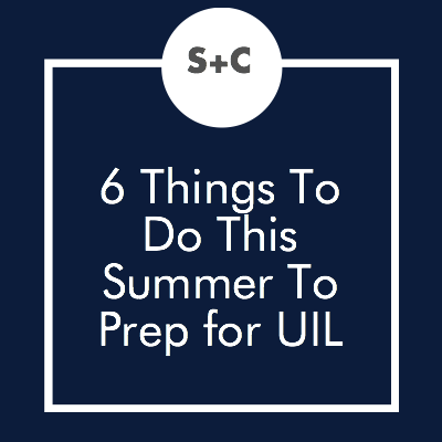 We're so glad to be getting a break. That final home stretch of Spring UIL was killer. While relaxing and catching up on my DVR'ed shows are my top priorities, I'm also preparing for next year's UIL season. Here's what you should (and shouldn't) worry about over the summer. **Keep in mind I'm the OAP director, Prose and Poetry coach as well as the Academic Coordinator for my high school, so some tips may or may not apply to you.**