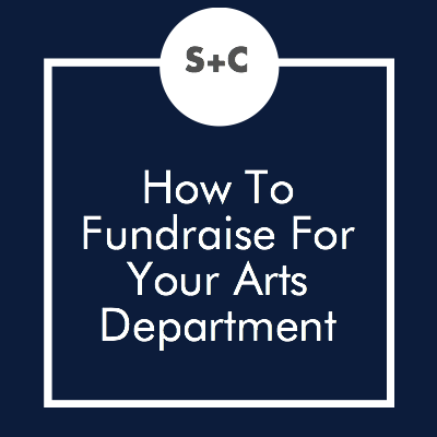 Our arts departments are often less funded than some of the other departments in our schools. It is hard to think that many athletic programs spend tons of money while we have to hold a bake sale to buy books and scripts, but it often happens. I have been fortunate in the last few years to have an administration that has worked with me on our budget so that it is more comfortable for us, but we have gone through years where we did lots and lots of fundraising.
