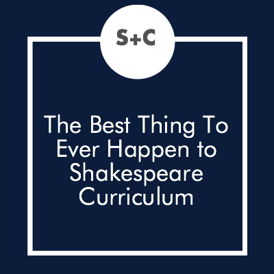 As an English teacher AND theatre director, I've had my fair share of run-ins with the Bard. He and I have come to know each other well, onstage and in the classroom. While I could devour Shakespeare's work over and over again, I know it can be a little stuffy for younger students- especially those who don't care for literature in the first place.