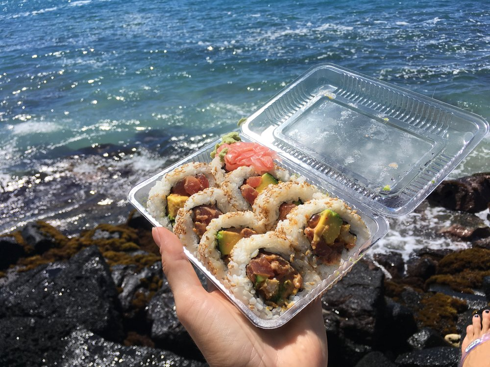 Sushi - best eaten by the sea. Hayashi's 'Ninja Star Roll'.