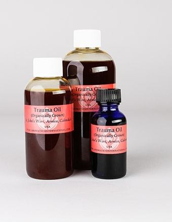 This site carries a wide variety of beautiful carrier oils and butters, including the Trauma Oil shown above.