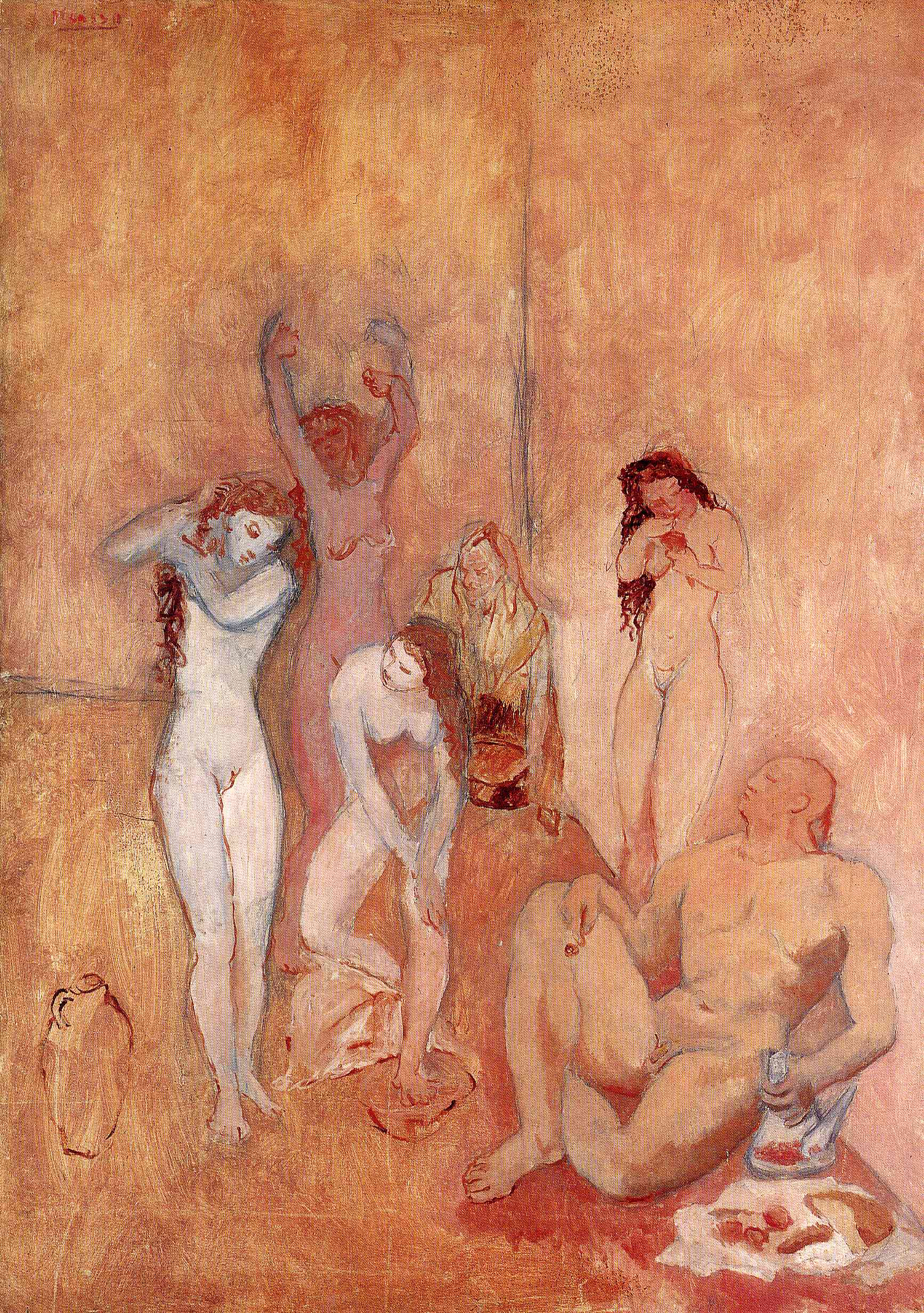 Picasso, The Harem 1906The only opinion on art I've been able to hold onto: Picasso is allowed to be a generally bad human, Pollack is not.