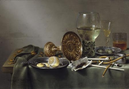 Just look at those olives!! Willem Claesz Heda, Still Life with Glasses and Tobacco, 1633. Image courtesy Peabody Essex Museum.