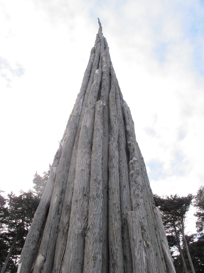 Spire, by Goldsworthy reflects the height and majesty of the Cypress trees in San Francisco's Presidio