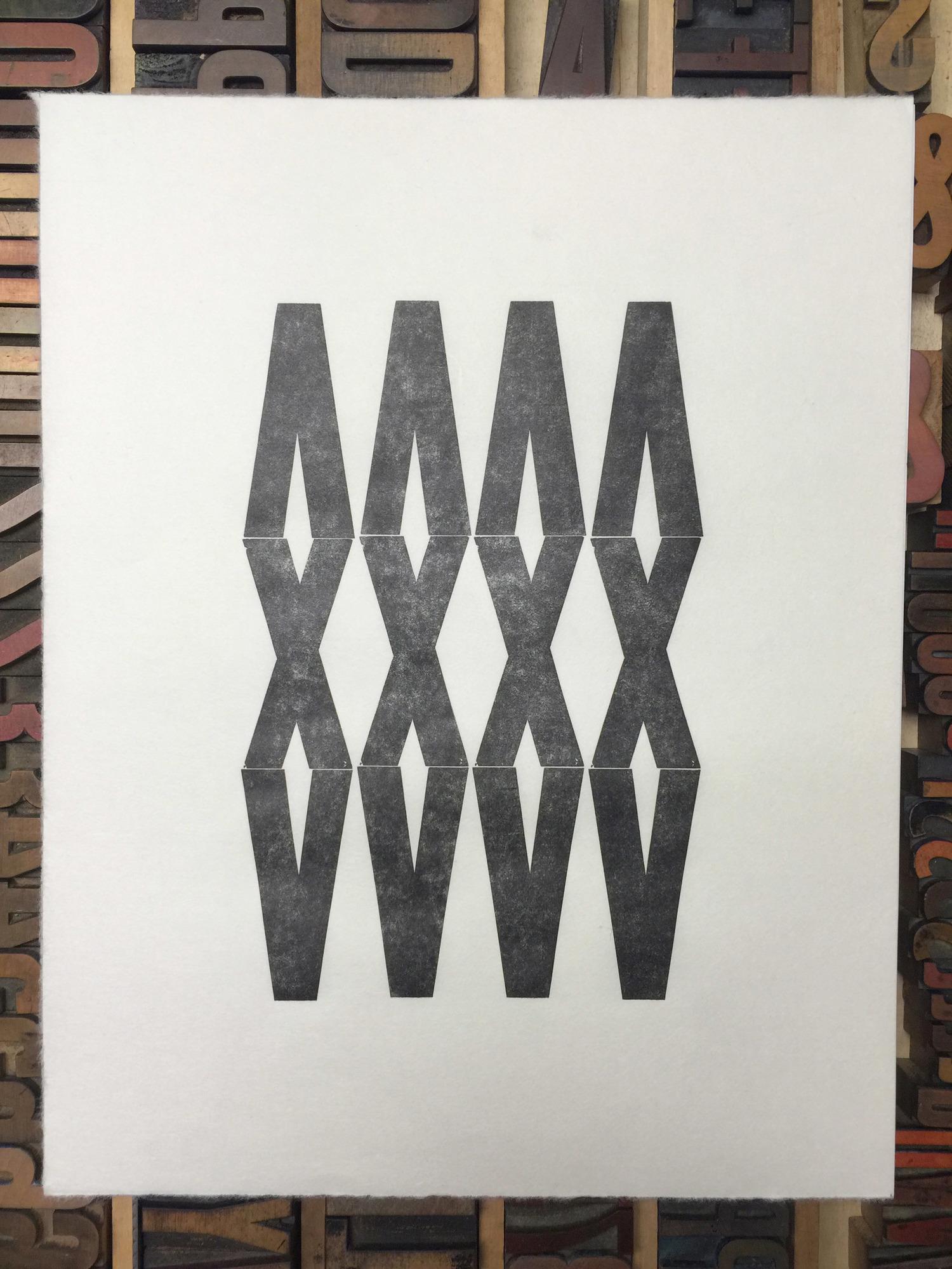 Bittner, Trailmarker no.3 Letterpress Print, 2014