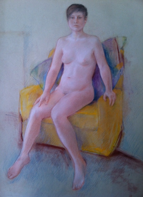 Dream Image by Lou Kohl Morgan. Pastel on Paper.