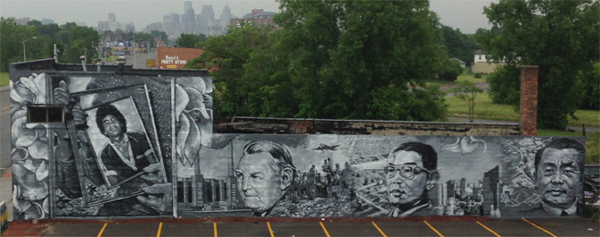 Vincent Chin Memorial, Detroit, MI by Gaia, a street artist I've followed since my San Francisco exploits