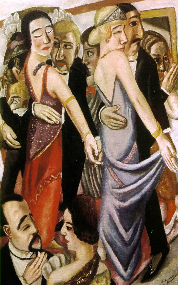 Max Beckmann, Dancing in Baden-Baden, 1920. No idea if it's in the show, but I like it.