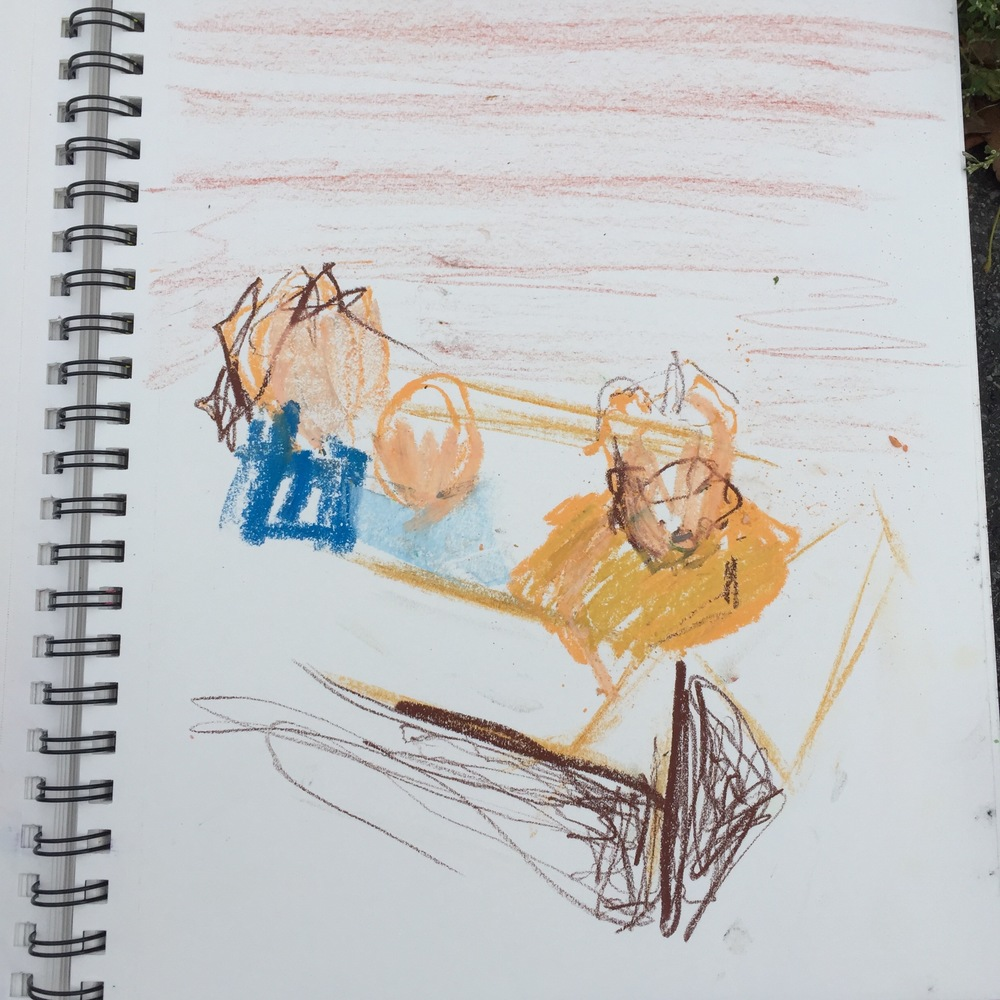 Drawing of photo from Karrie's sketchbook, 2015