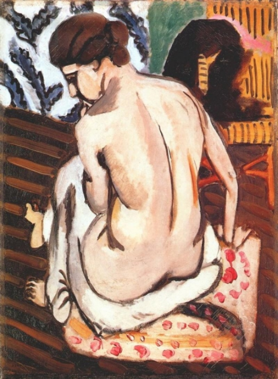 My transition from Degas to Matisse in the eyes of artists will feature here. Seated Nude with Back Turned, 1917.