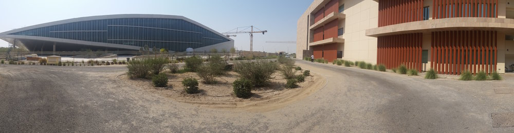 Qatar National Library and Georgetown University in Qatar, Education City, Doha