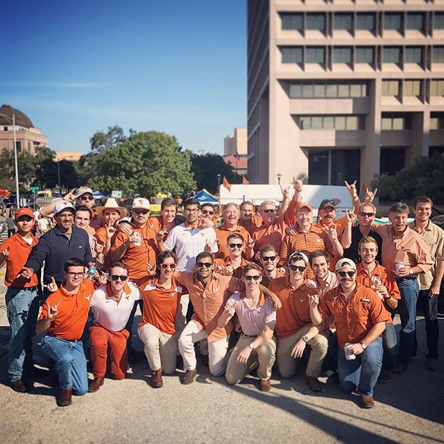 Alumni from the 80s. Tailgating. Brotherhood. Need this caption say more? #phitau #hookem