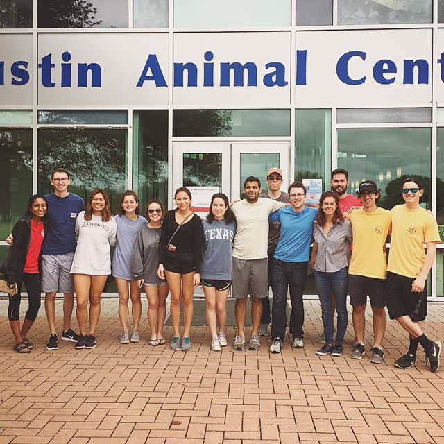 Volunteering at the Austin Animal Center with the TX Royals was great. Good company as always! #phitau #txroyals