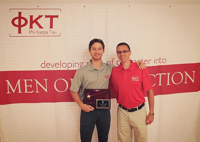 Our president, Tommy Wilczek, recently received the award for most outstanding fraternity president at our university.  Now, we'd like to recognize him for receiving the Dwight I. Douglass President Award for being the most outstanding president of the 95 Phi Kappa Tau chapters across the nation! He continues to show administrative, visionary, and leadership excellence leading by example. Congratulations Tommy! You deserve it!  #damnproud #phitau